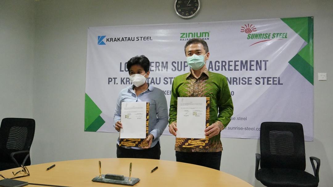 Kerjasama Sunrise Steel dan Krakatau Steel