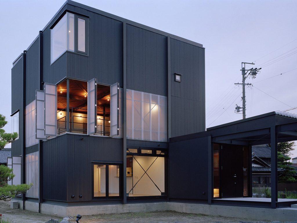 Fasad Rumah Industrial